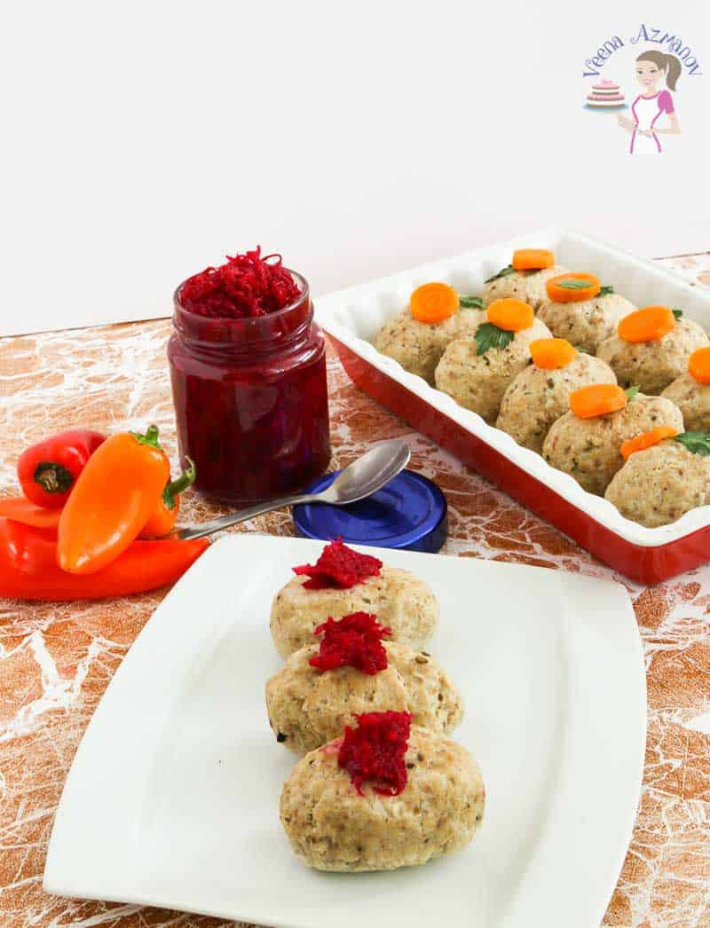 A Close up of the Gefilte Fish Recipe - traditionally made during the Jewish Passover holiday.