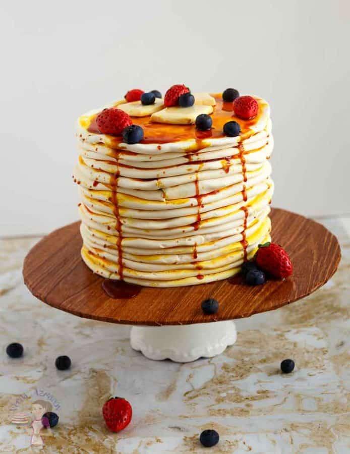 Cake Tutorial, novelty, sculpted, pancake, breakfast