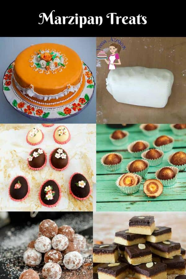 A collection of marzipan recipes from traditional marzipan recipe to chocolate marzipan recipe as well as marzipan truffles and bitter chocolate marzipan truffles and marzipan decorated cake and Eatser Eggs.
