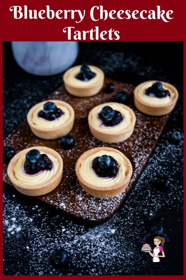 How to make Cheesecake Tarts or cream cheese tart with blueberry filling using mini tarts