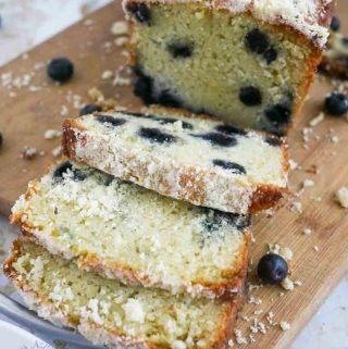 This moist, creamy, delicious and melt in the mouth blueberry cream cake is a simple, easy and effortless recipe. Made with cream cheese inside and crumbs on the top it makes a wonderful tea time cake, snack or even a celebration cake. Use fresh when blueberries are in season or frozen blueberries any tim