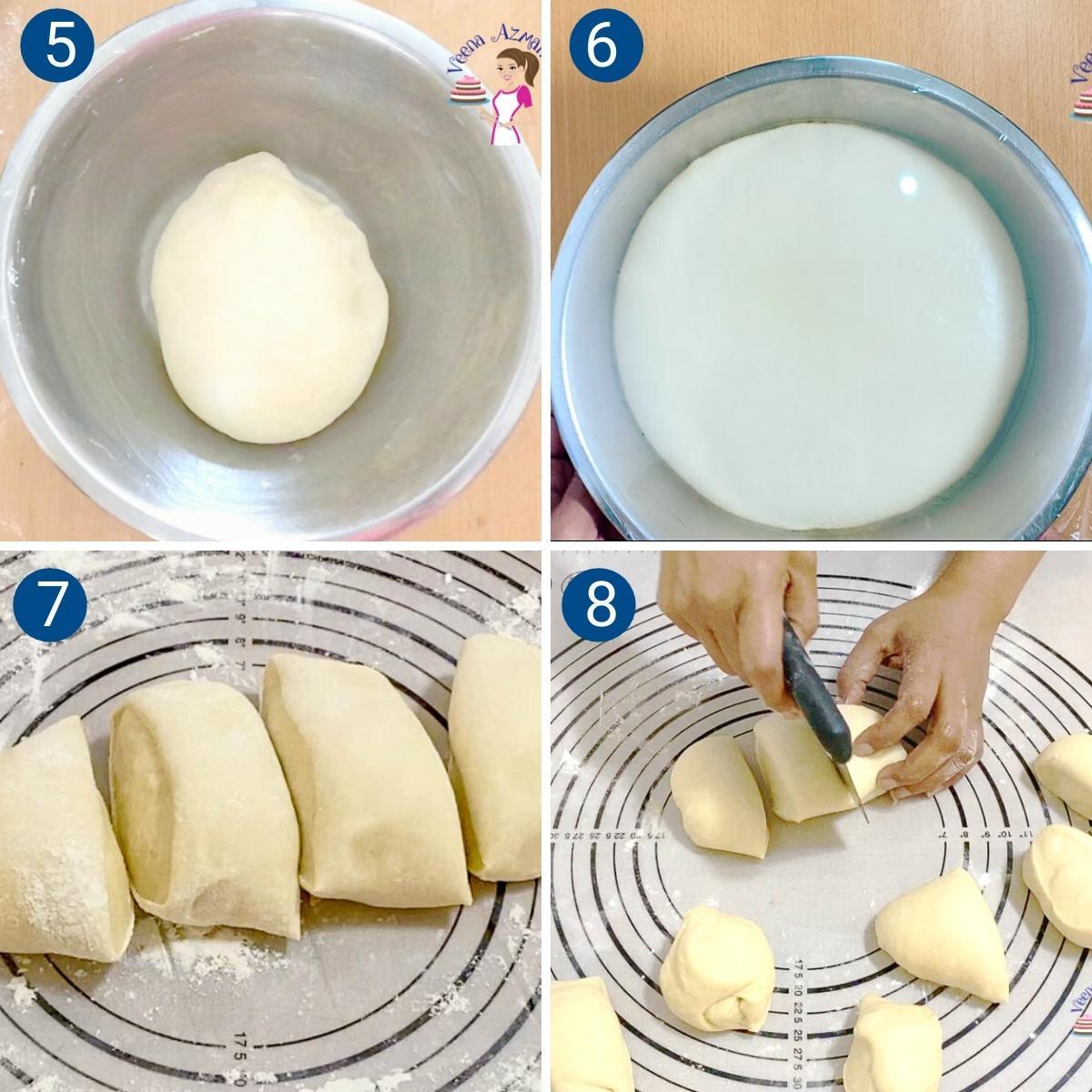 Progress Pictures Collage for Pita bread recipe.