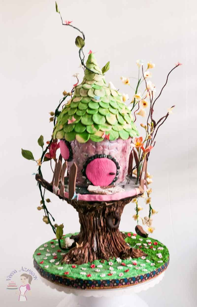 Enchanted Forest Tree House Cake Veena Azmanov
