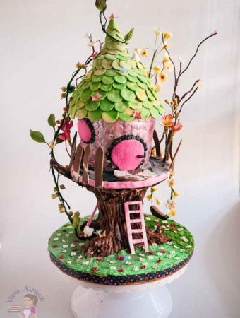 Enchanted Forest Tree House Cake