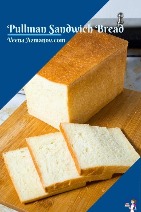 Pinterest image for sandwich bread