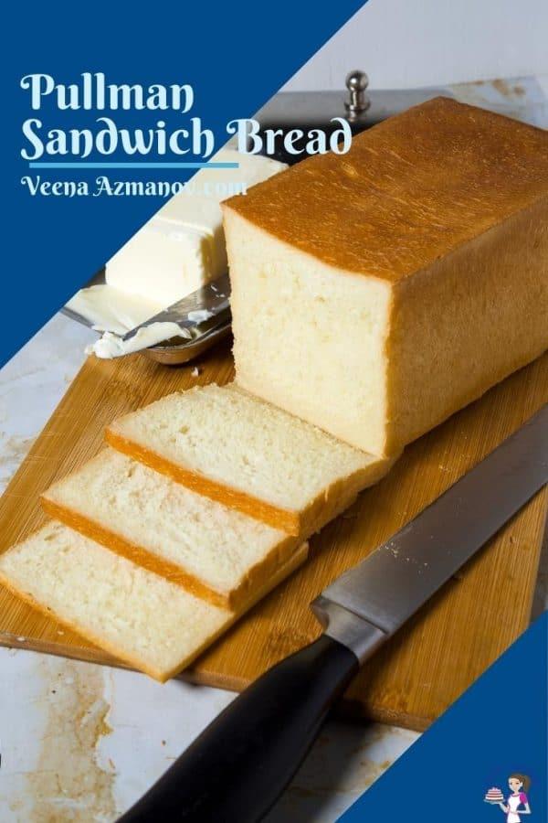 Pinterest image for pullman sandwich bread