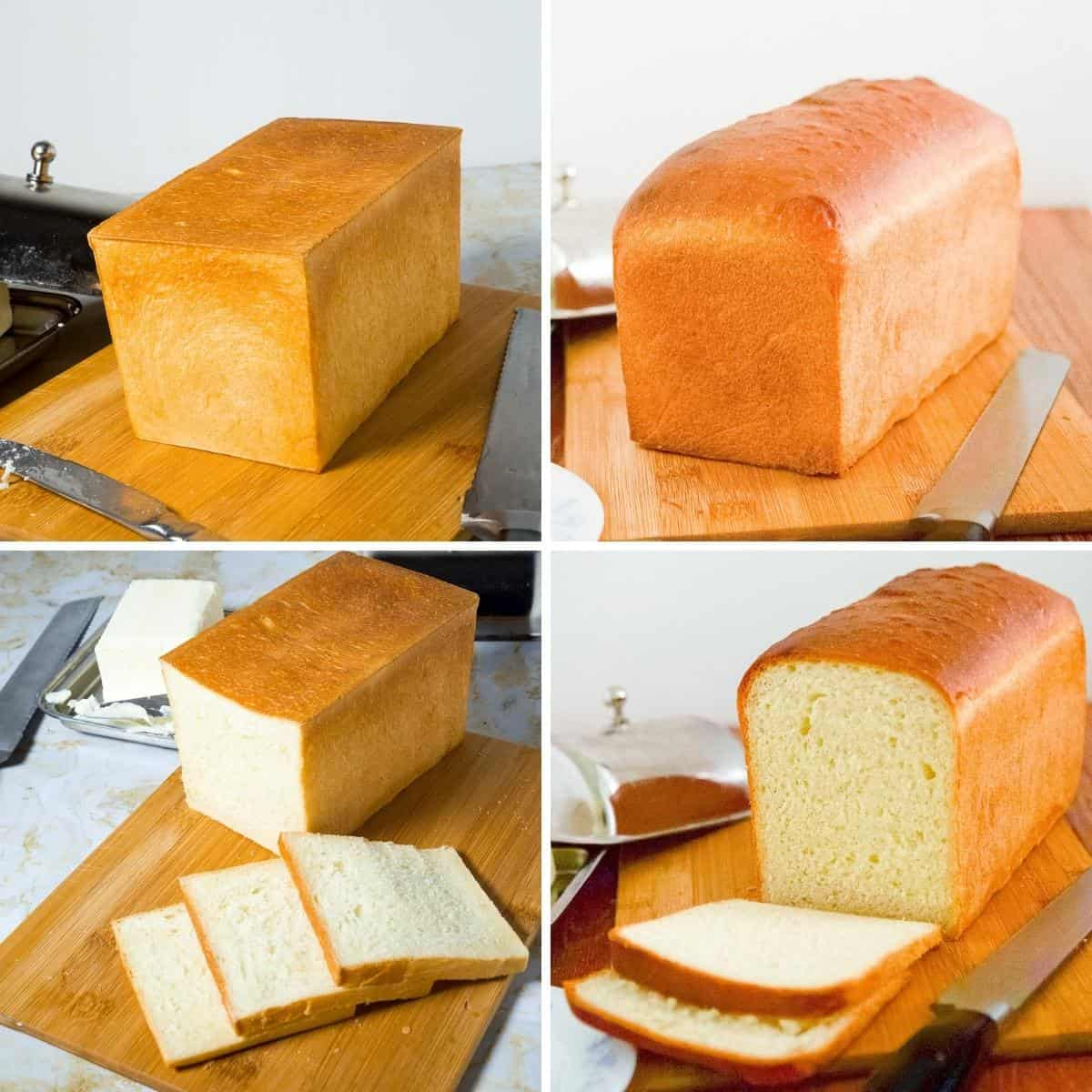Collage of sandwich bread recipes
