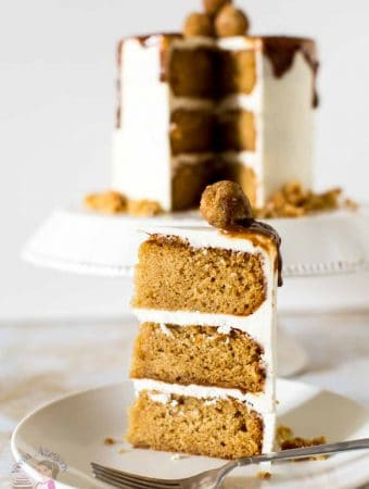 Butterscotch has a distinct rich flavor that's hard to resist. This simple, easy and effortless recipe makes the most decadent butterscotch cake with a moist texture and a soft crumb. The batter is flavored with butterscotch sauce, dark brown sugar and sour cream. Decorated with luxurious Swiss Meringue buttercream that just melts in the mouth and dripped with more butterscotch sauce.