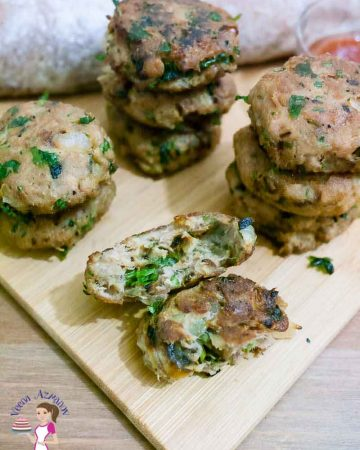 Tuna cakes are a great way to make a quick snack, light dinner or sides dish. This simple, easy and effortless recipe for tuna patties gets ready in just 10 minutes or less. Packed with lots of flavor from onions, garlic, parmesan, and mustard. These make a great addition to sandwiches, salads or eaten on it own.