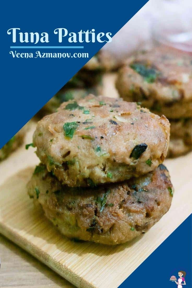Pinterest image for tuna patties