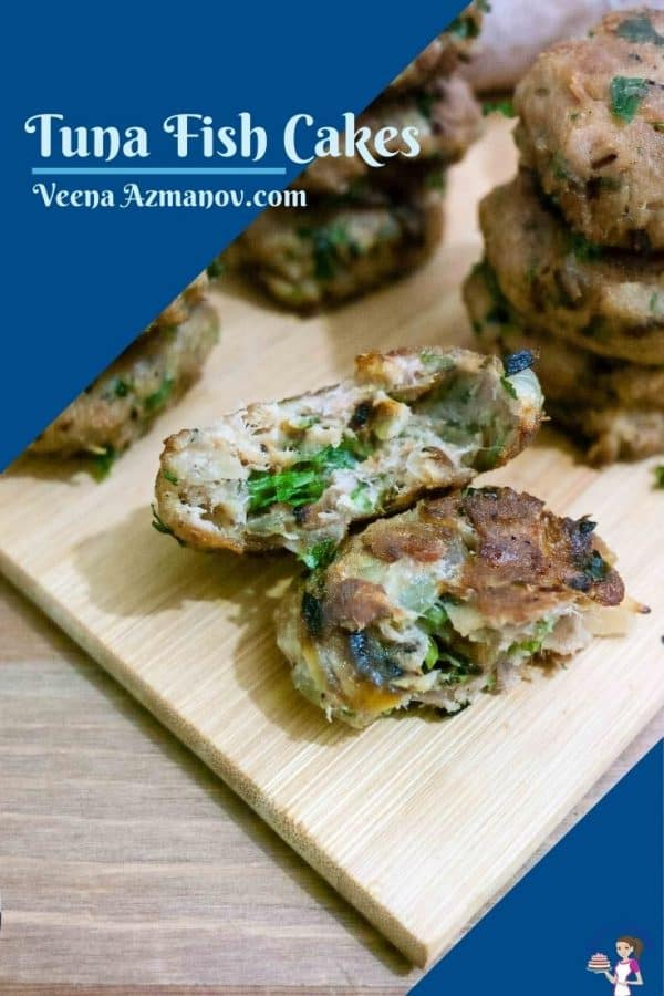 Pinterest image for canned tuna patties