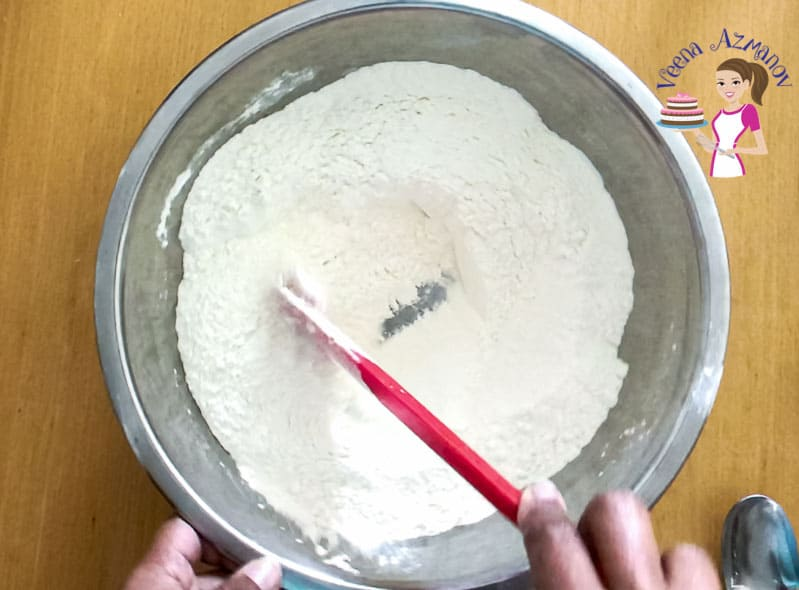 Preparing the naan bread dough - progress pictures