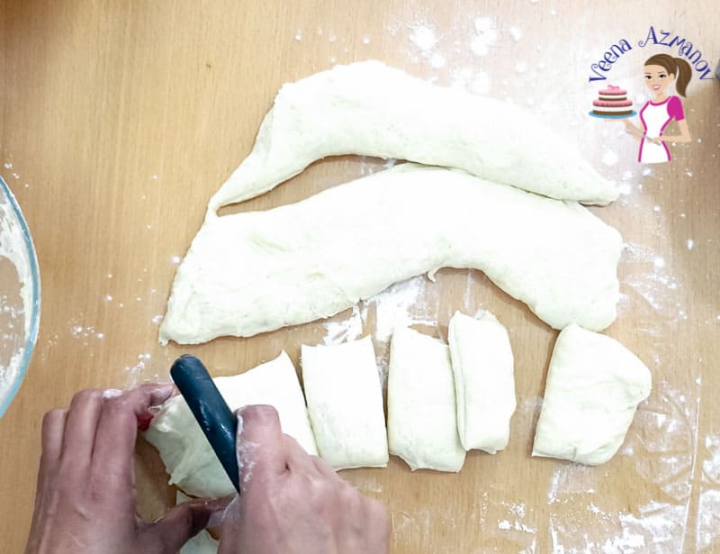 How to shape the naan bread when rolling. Progress Pictures