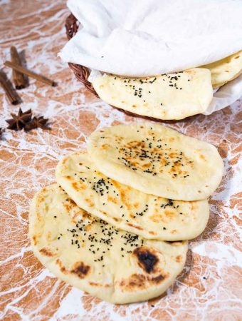 Stovetop Nigella Garlic Butter Naan Recipe