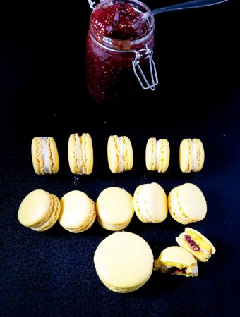 The best strawberry lemon French macaron recipe using my no-fail macaron recipe for beginners.