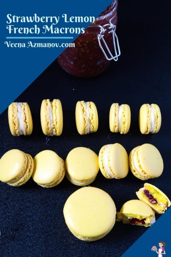 Pinterest image for French Macrons