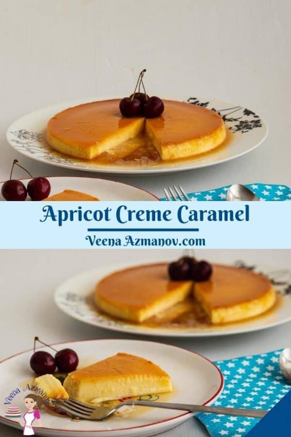 Pinterest image for creme caramel with flan.