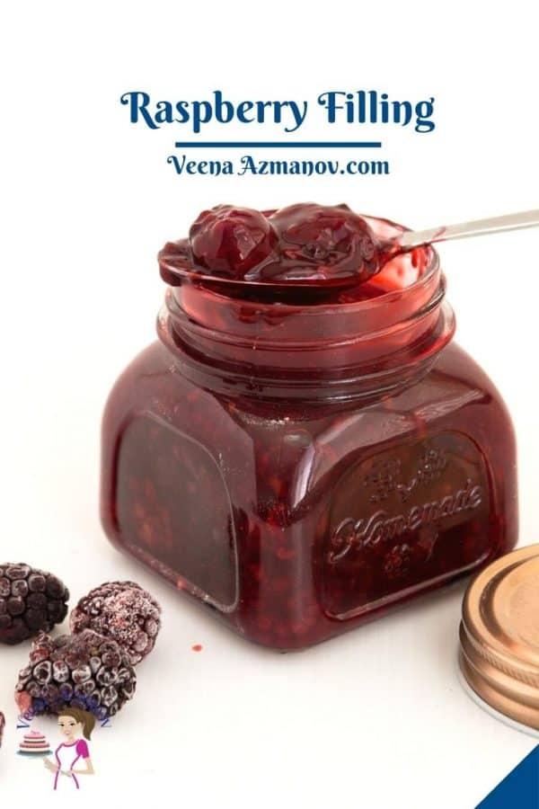 Pinterest image for fruit fillings with blackberry.