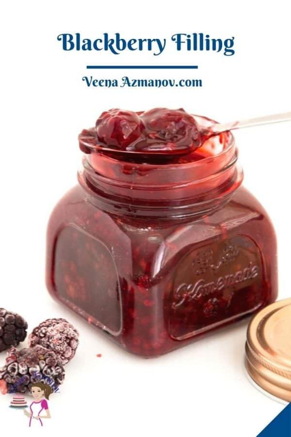 Pinterest image for blackberry fruit fillings.