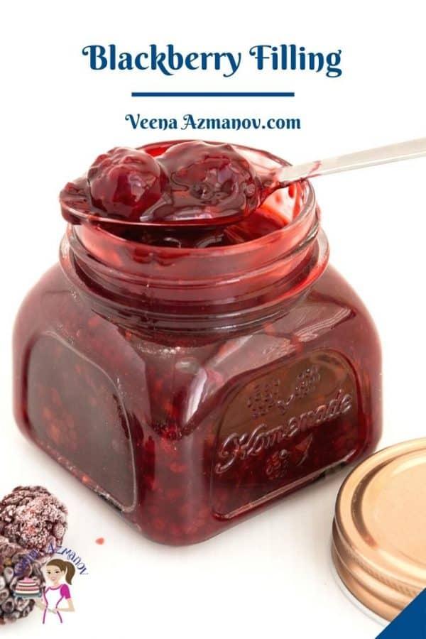 Pinterest image for fruit fillings with blackberries.