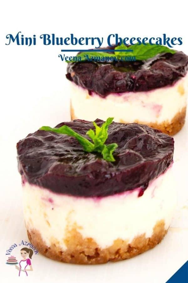 Pinterest image for mini cheesecakes