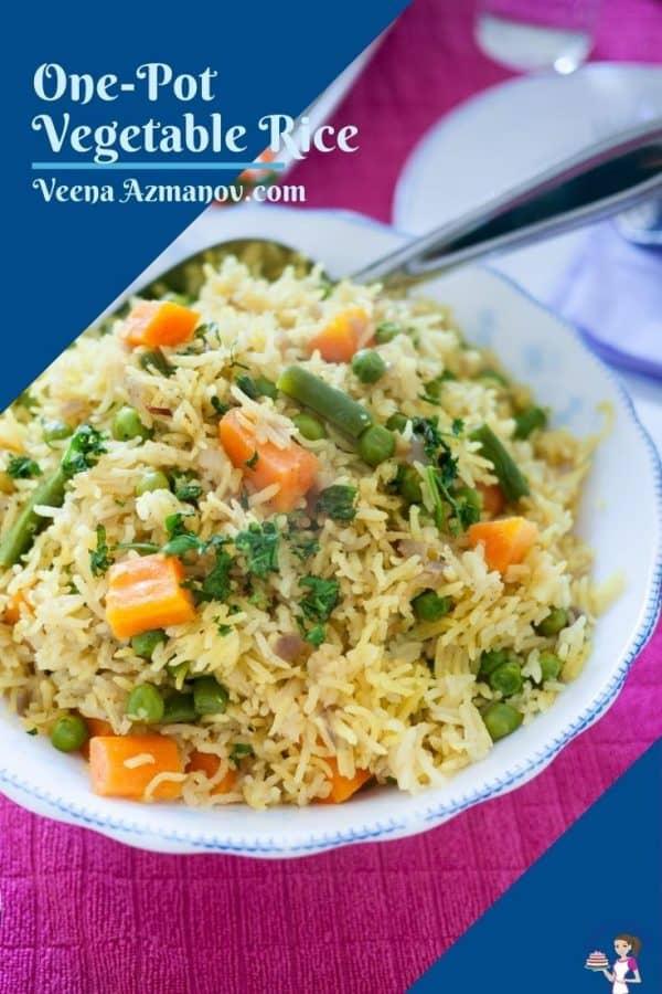 Pinterest image for vegetable rice