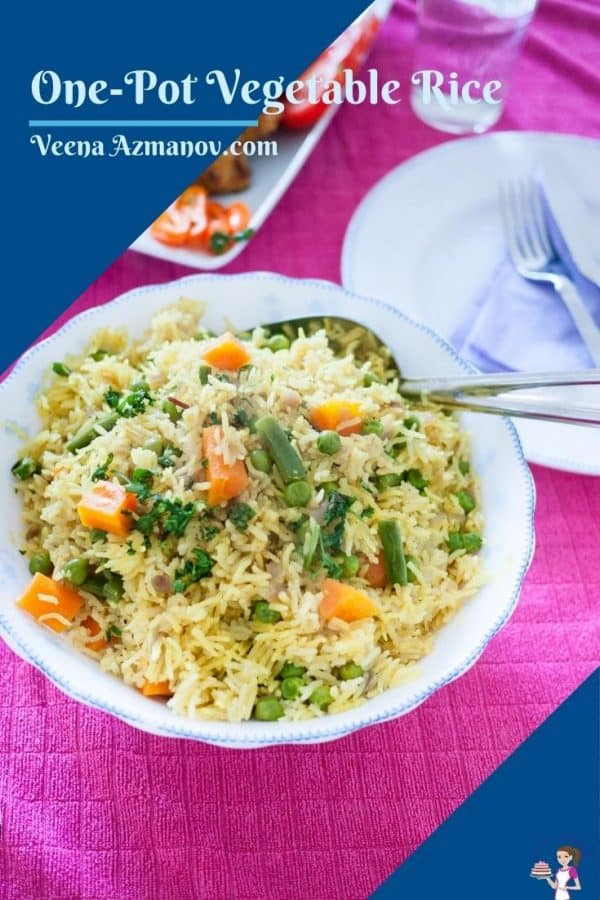 Pinterest image for vegetable rice
