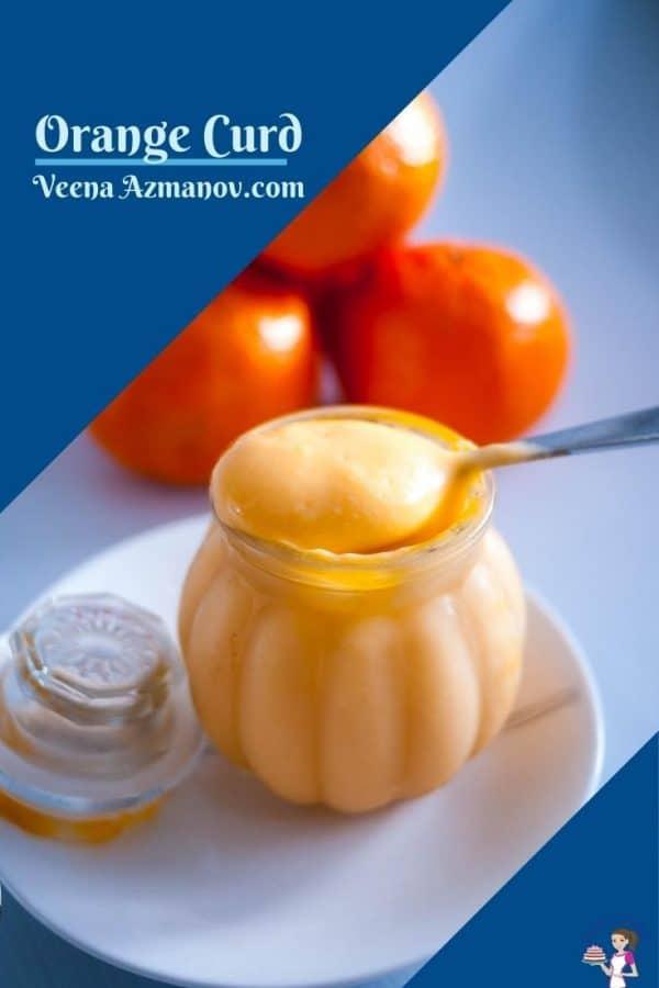 Pinterest image for orange curd
