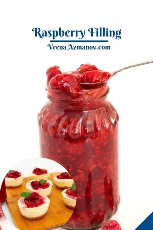 Pinterest image for raspberry fruit fillings.