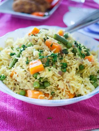 Quick One Pot Vegetable Rice Recipe