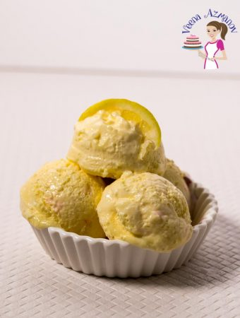 3 Ingredients Lemon Ice Cream – No Churn