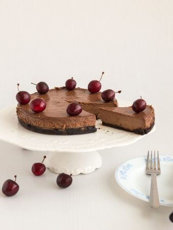 Baked Chocolate Cherry Cheesecake Recipe
