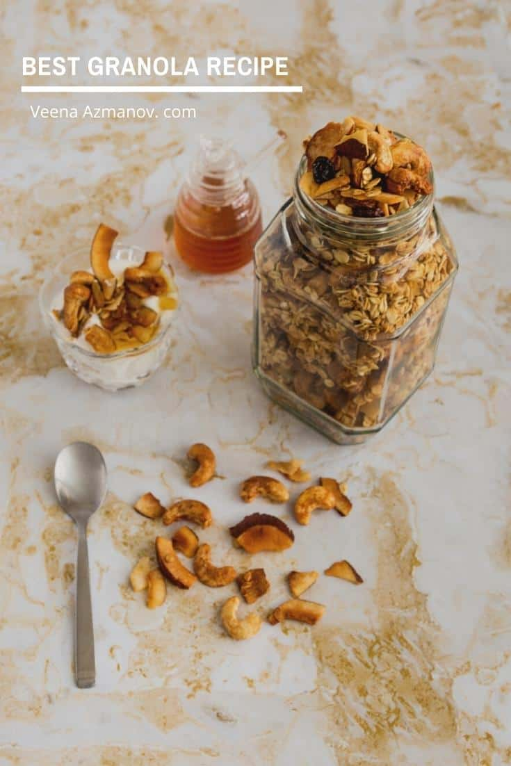 Easy recipe for homemade granola from scratch