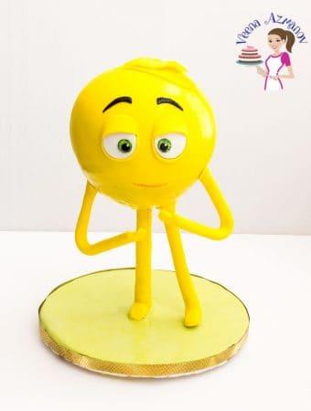 Emoji Cake Tutorial – Standing Meh Emoji Cake