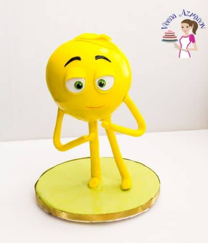An image optimized for standing meh emoji cake. This emoji cake tutorial is all you need to make your next emoji cake standing or sitting.