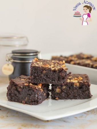 Chocolate Walnut Brownies Recipe – Gluten Free (Video)