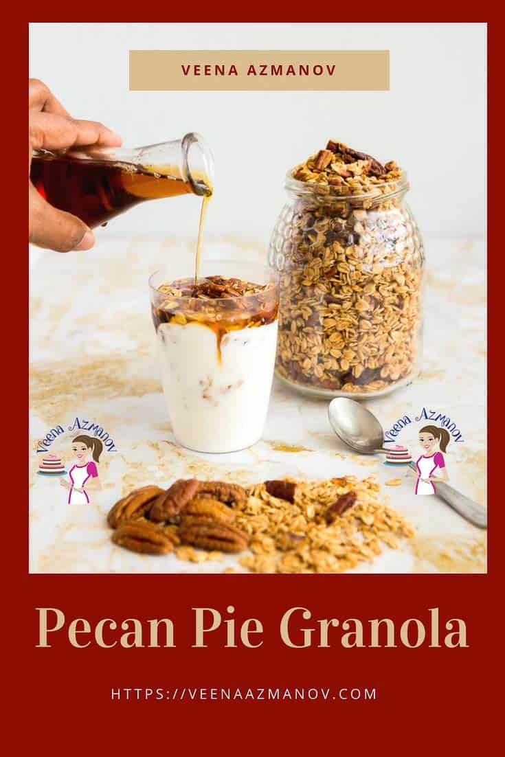 An image optimized for social share for this pecan pie granola made, nothing beat homemade granola.