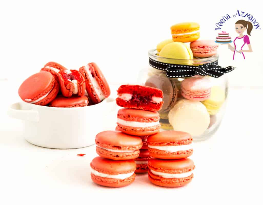 Step by step French Macarons, Raspberry Flavor, Easy Macaron Recipe, Perfect French macarons
