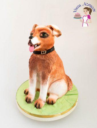 Sitting Dog Cake for my Aadi's 11th Birthday