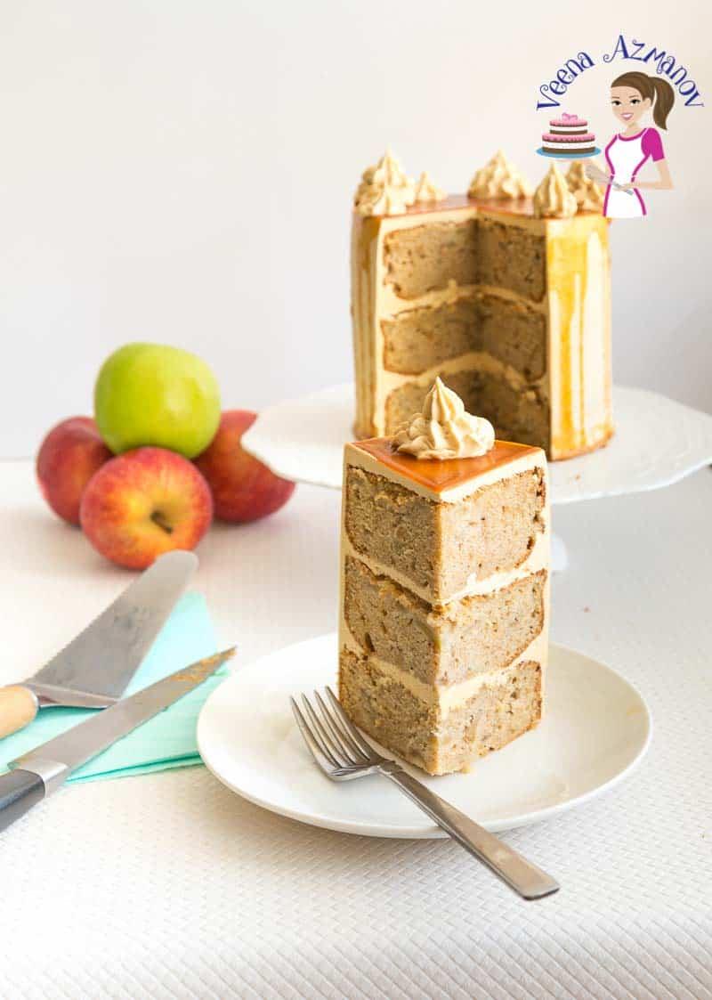 Caramel Apple Cake with Caramel Buttercream