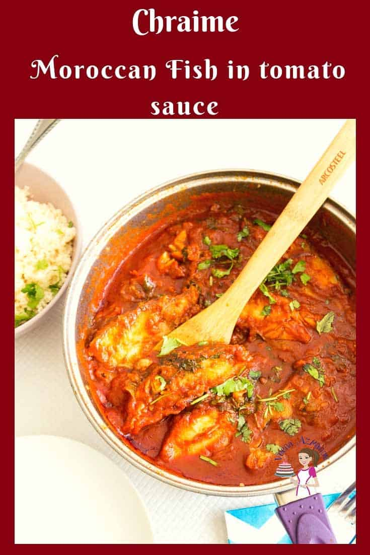 A step by step video tutorial for Moroccan Fish in spicy tomato sauce also called Chraime here in Israel often made on Rosh Hashana and Passover. via @Veenaazmanov