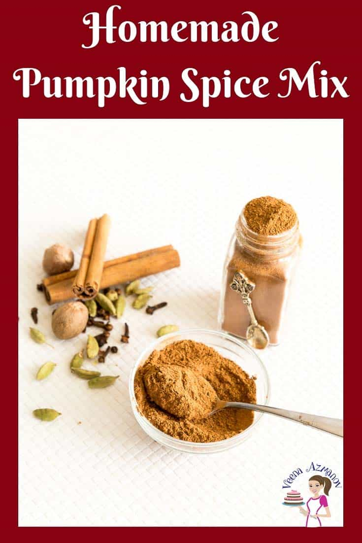An image optimized for social media share for the best homemade Pumpkin Spice Mix recipe from scratch