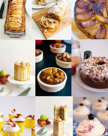 A collage of apple recipes