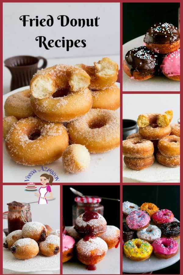Find a collection of doughnut aka donut recipes here on my blog from simple cinnamon sugar donuts to deep fried glazed chocolate donuts.