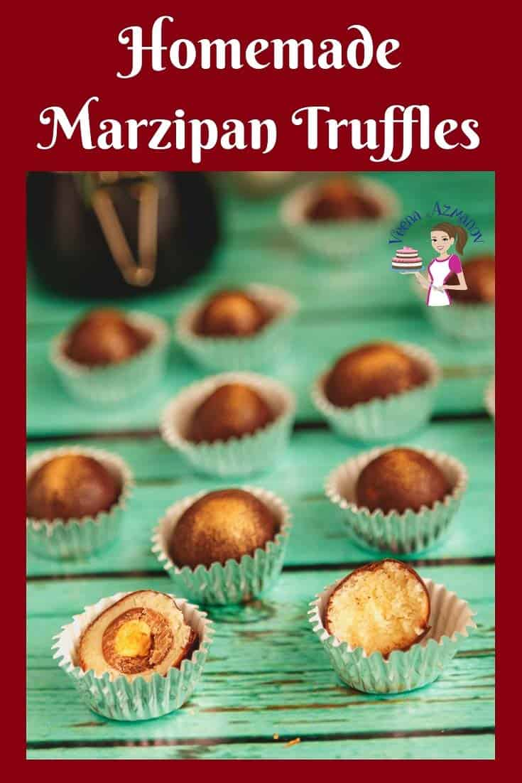 The best homemade marzipan truffles in 15 minutes whether you make the from scratch or semi-homemade