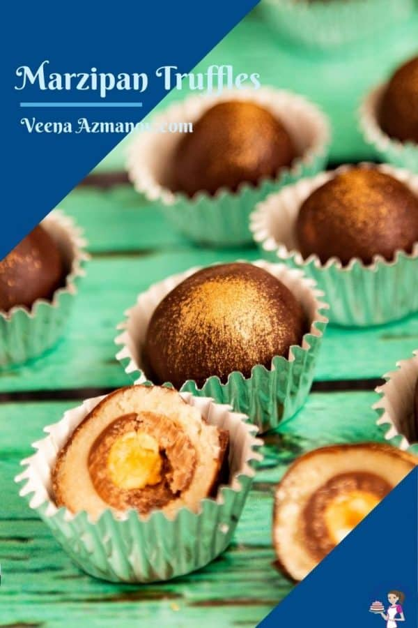 Pinterest image for marzipan truffles
