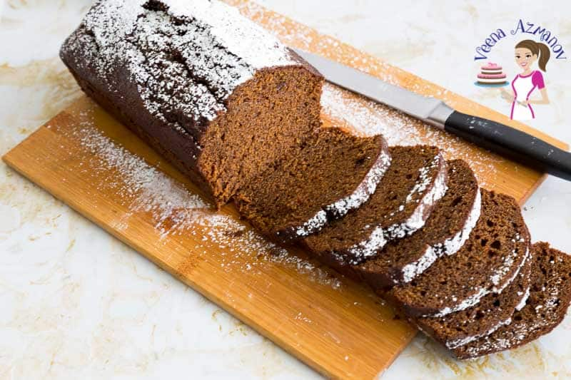 Moist Spiced Gingerbread Loaf Cake step by step video recipe