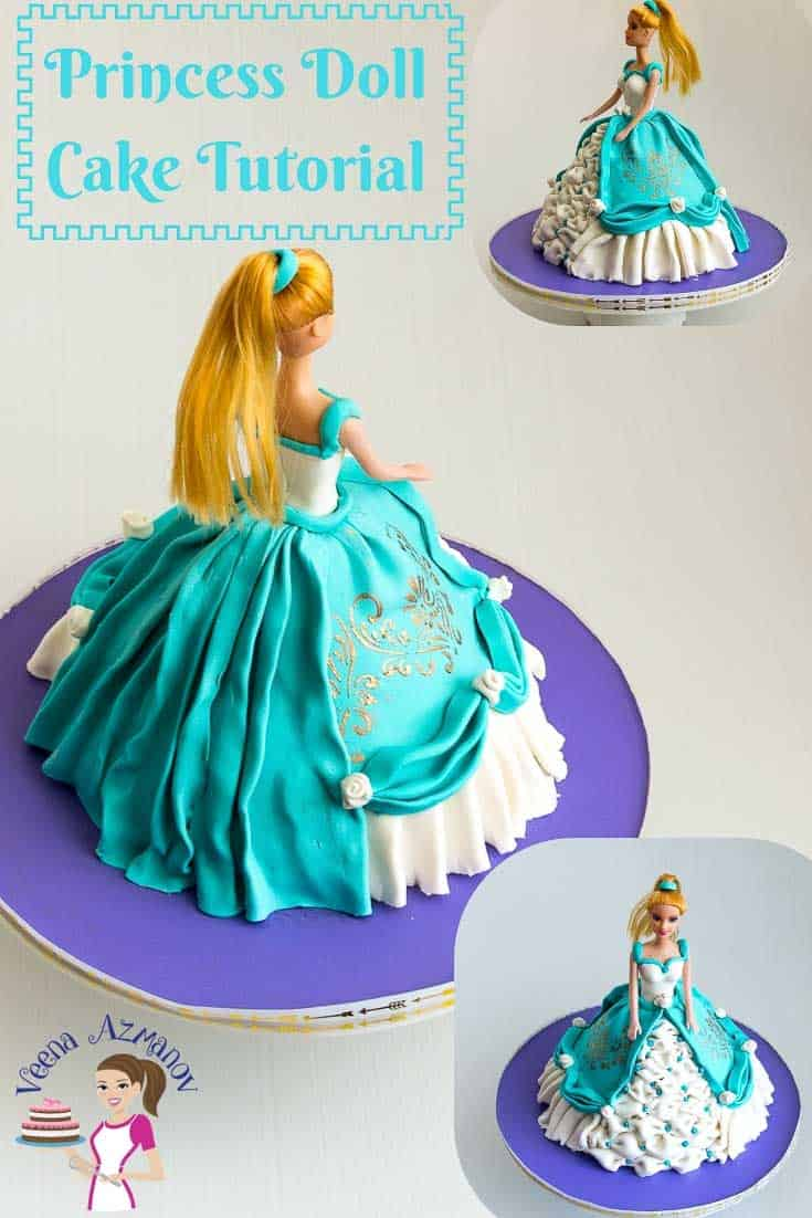Learn to make a simple, easy and elegant Princess Cake at home with this step by step video tutorial. #princess #doll #tutorial #howto #cake via @Veenaazmanov