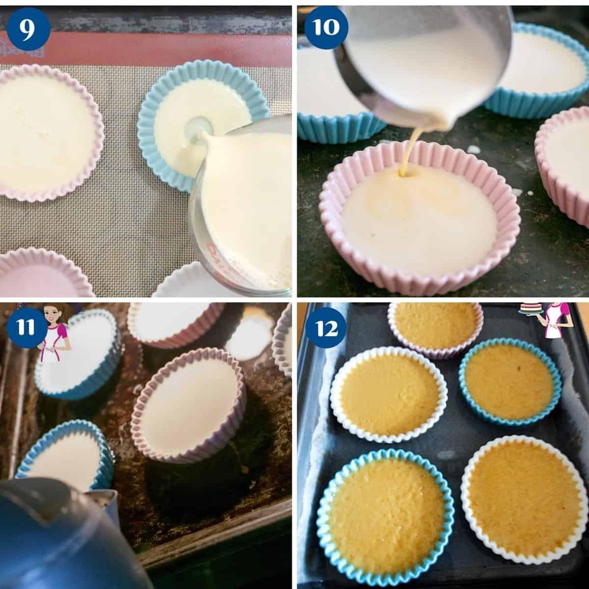 Progress pictures making custard for creme brûlée.