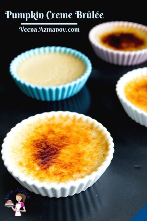 Pinterest image for creme brûlée.